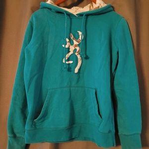 Browning teal hoodie